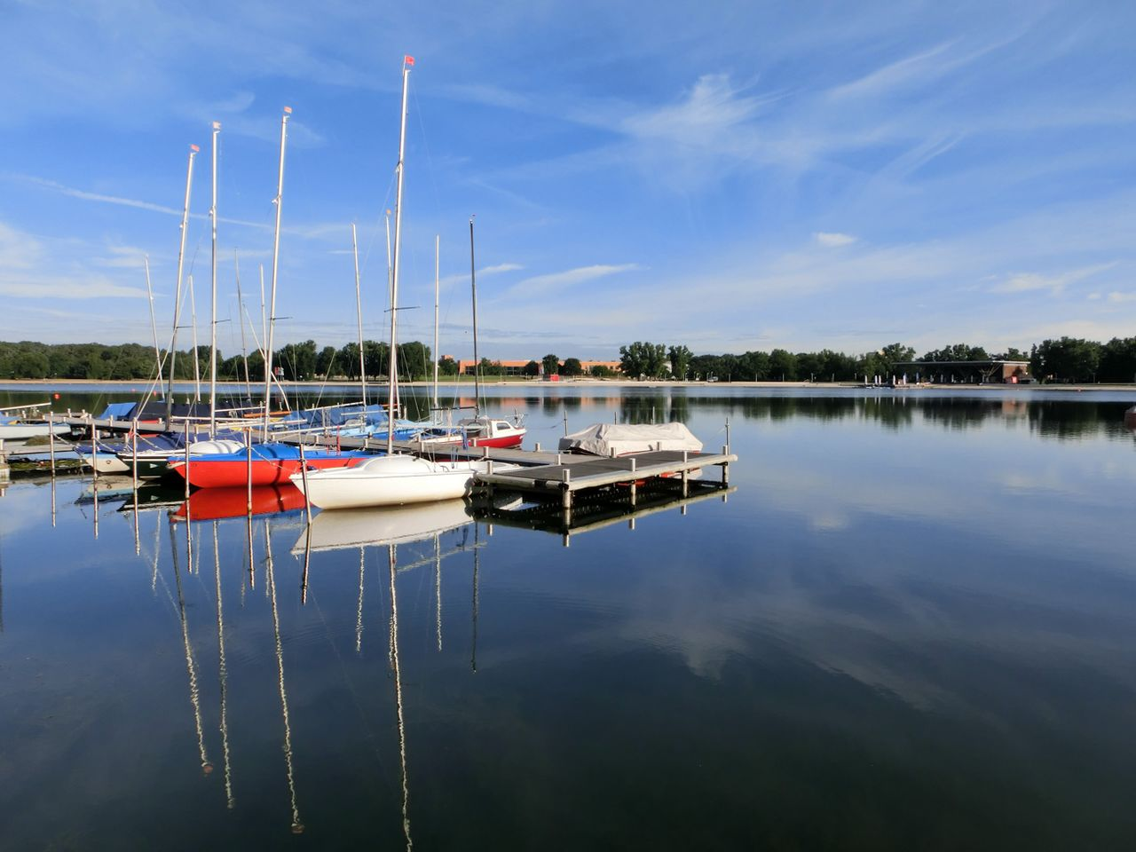 sailing boats on the Allersee lake (photo: J. L. Heinrich)